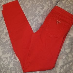 Guess Red Denim Jeans